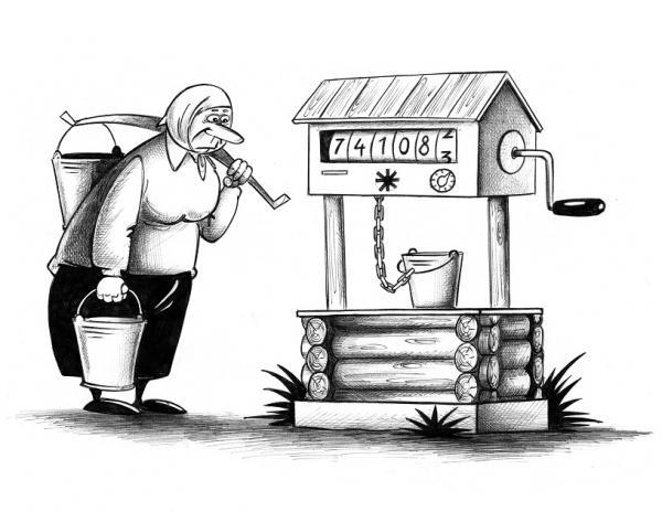 Анекдоты про ЖКХ. Карикатура, Сергей Корстун