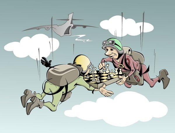 парашют и шахматы - затяжной блиц